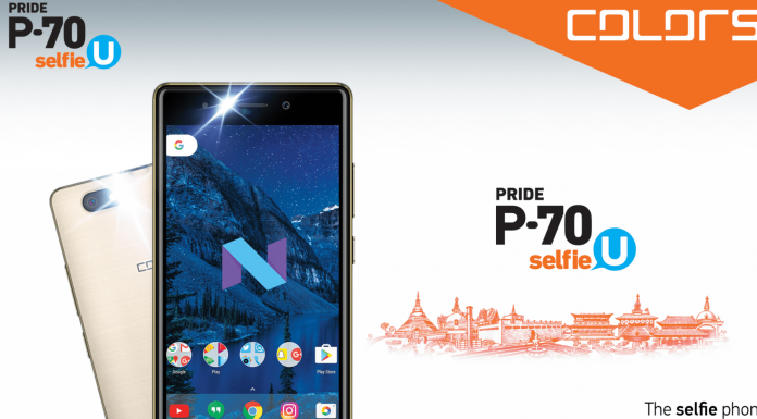 Colors P70 Selfie U launched in Nepal
