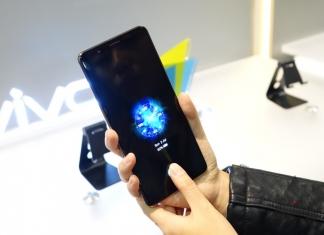 Vivo showcases an in-screen fingerprint scanner