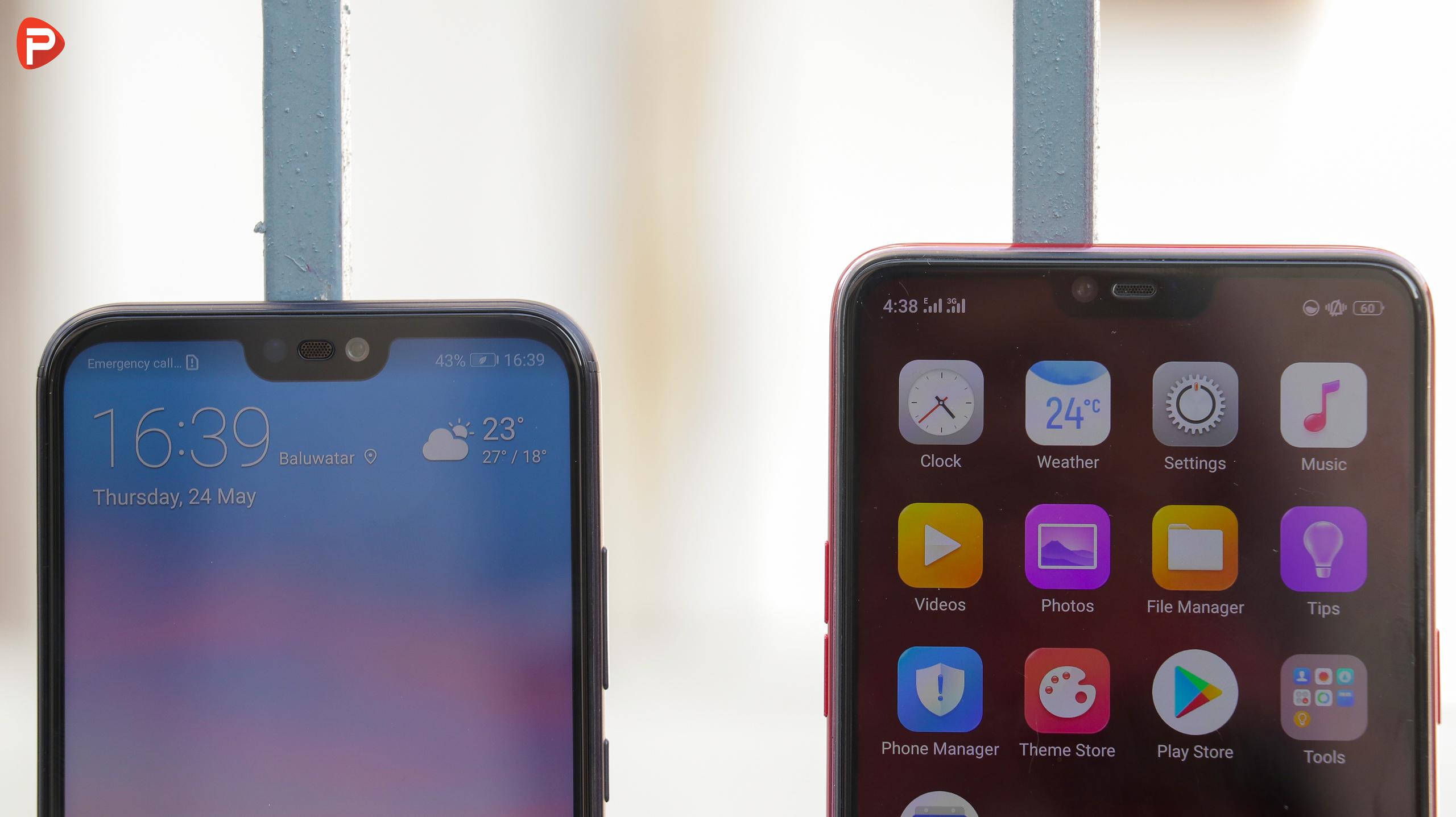 OPPO F7 vs Huawei Nova 3e