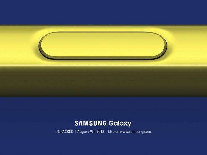 Samsung sends press invites for the Samsung Galaxy Note 9