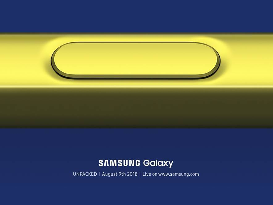 Samsung sends press invites for the Samsung Galaxy Note 9