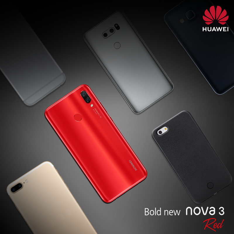Huawei Nova 3i in red color