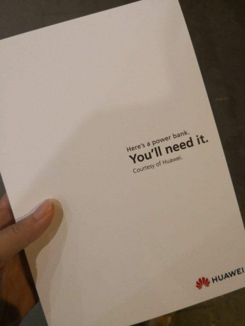 Huawei's complementary gift