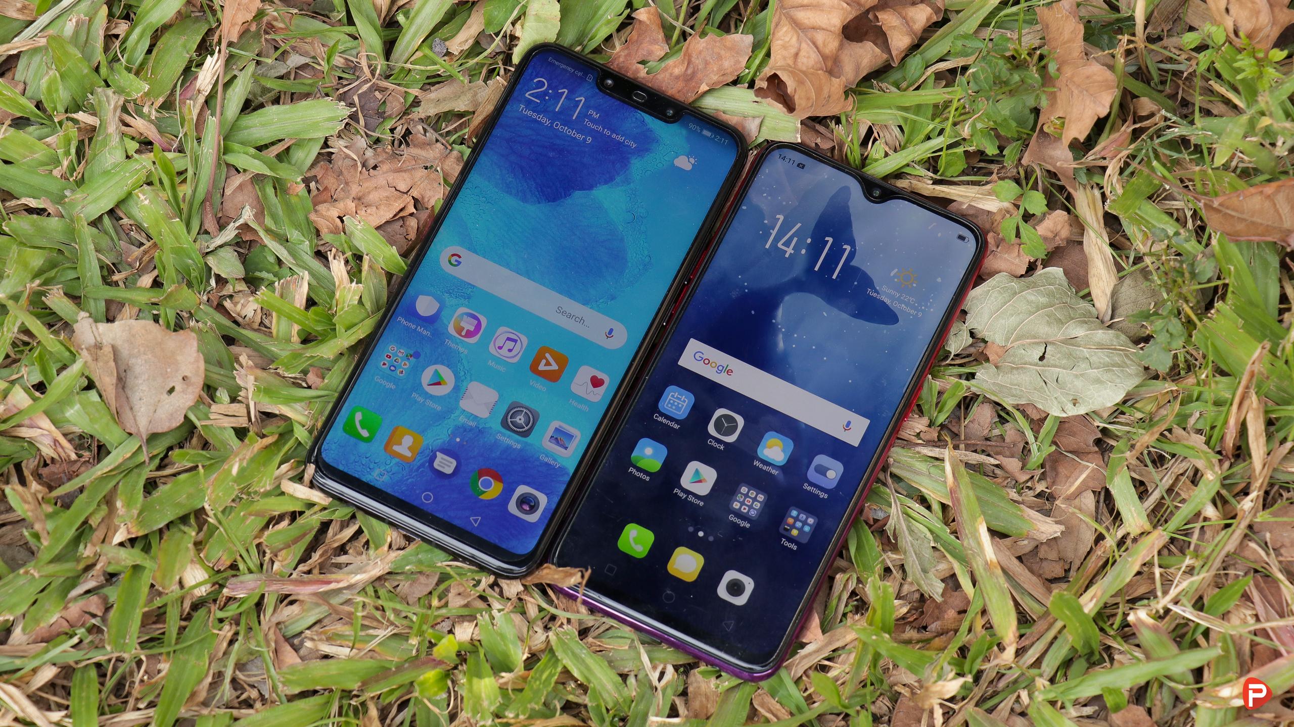 OPPO F9 vs Huawei Nova 3