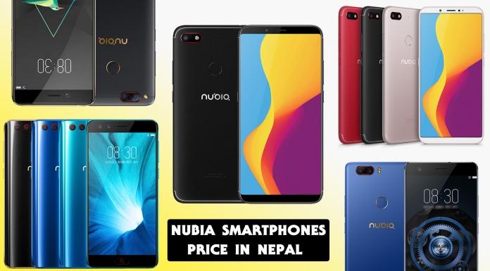 Nubia mobiles price in Nepal