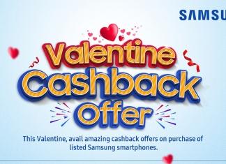 Samsung Valentine Cashback Offer