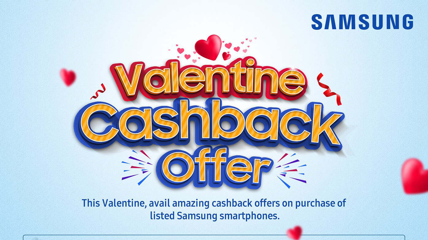 Samsung Valentine Cashback Offer
