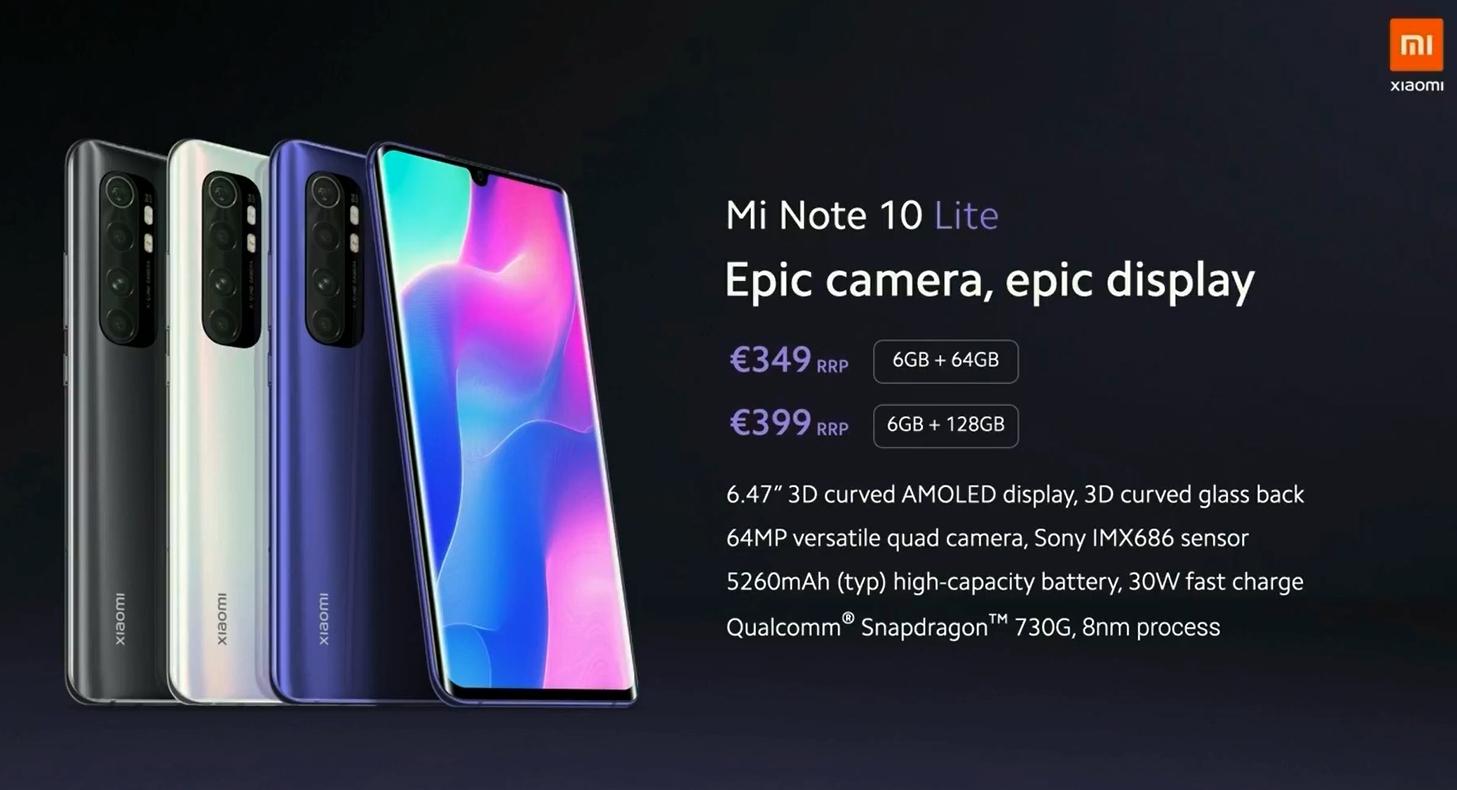 Xiaomi Mi Note 10 Lite Price